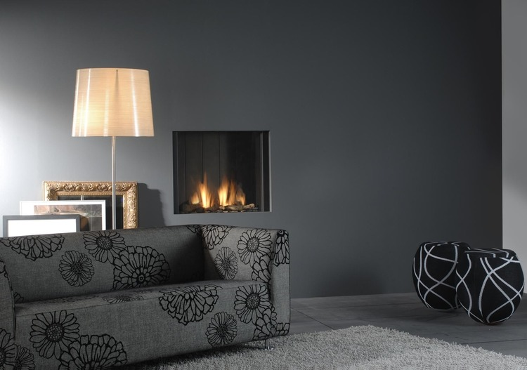 clear gas fire by Faber