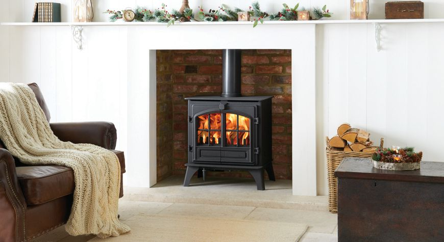 riva plus multifuel stove by Stovax